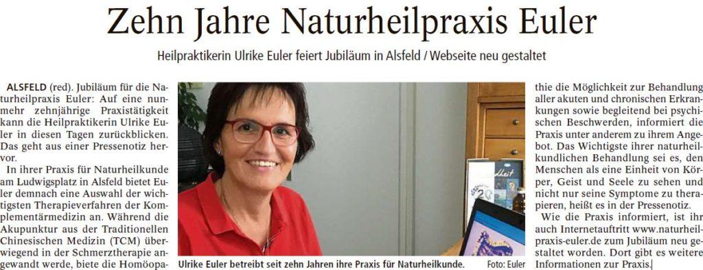 10 Jahre Naturheilpraxis Euler